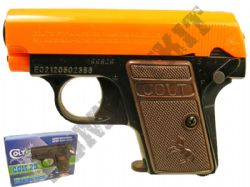 Colt 25 Compact Airsoft BB Gun Black and Orange Official Model